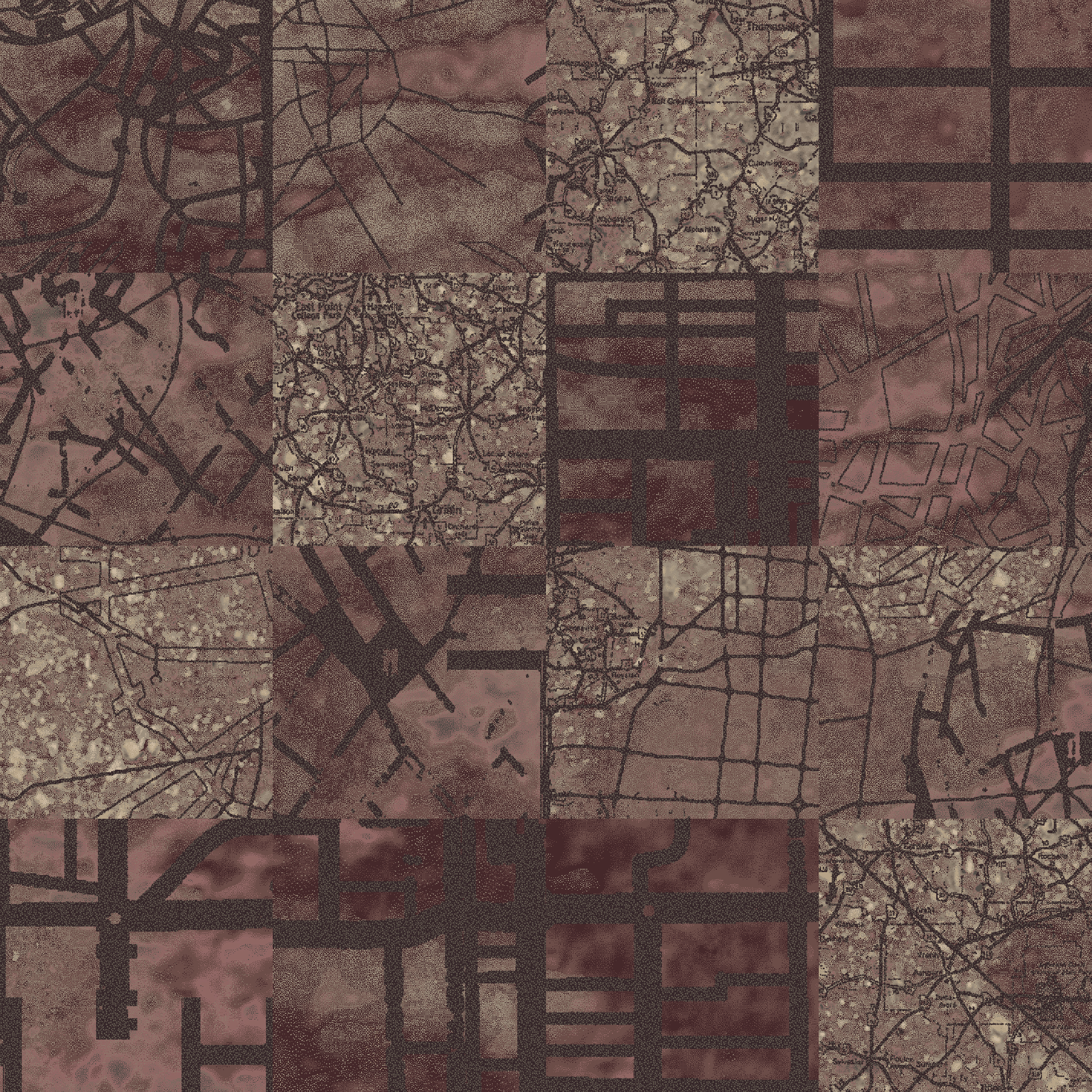 Aerial Map  dark beige